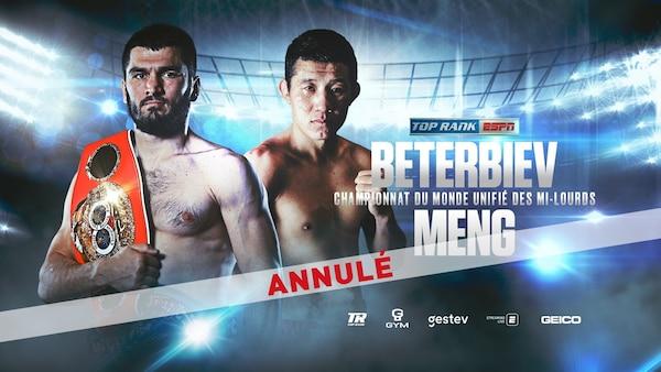 Le 28 mars au Centre Vidéotron : KO King Artur Beterbiev défendra les titres mondiaux des mi-lourds contre Meng Fanlong