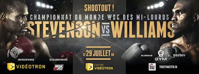 WBC world championship Stevenson vs Williams