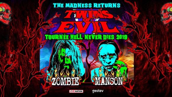 La tournée Twins of Evil – Hell Never Dies de Rob Zombie et Marilyn Manson s'arrête au Centre Vidéotron