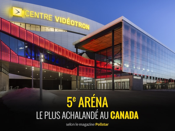 Videotron Centre ranked #5 in Canada by ticket sales