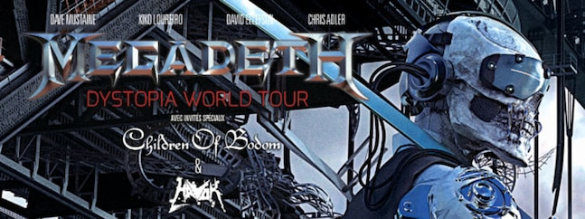 Megadeth - Dystopia world tour