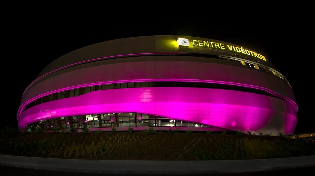 Le Centre Vidéotron, fier partenaire de Québec ville en rose 2016