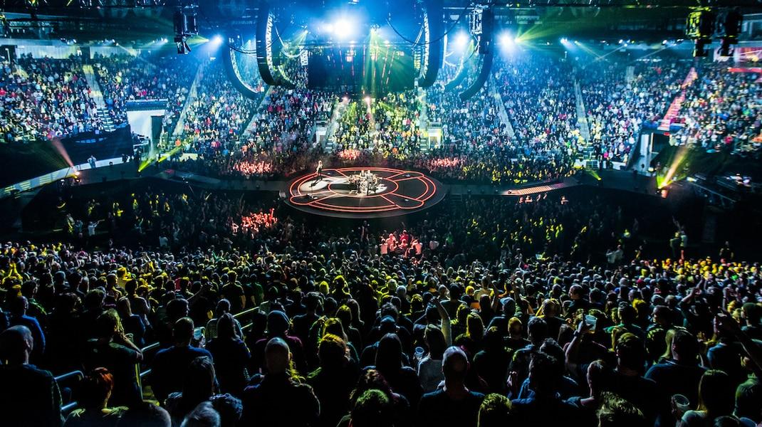 Le 2e spectacle du groupe britannique Muse a été présenté à guichets fermés, le 23 janvier dernier.