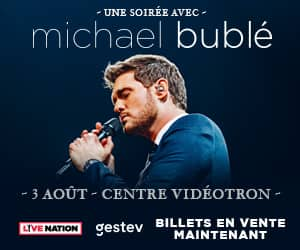 link to https://www.ticketmaster.ca/event/310055679060268F?utm_source=AUTOPROMO&utm_medium=siteGestev&utm_campaign=20190803MICHAELBUBLÉ&brand=videotron&lang=fr-ca