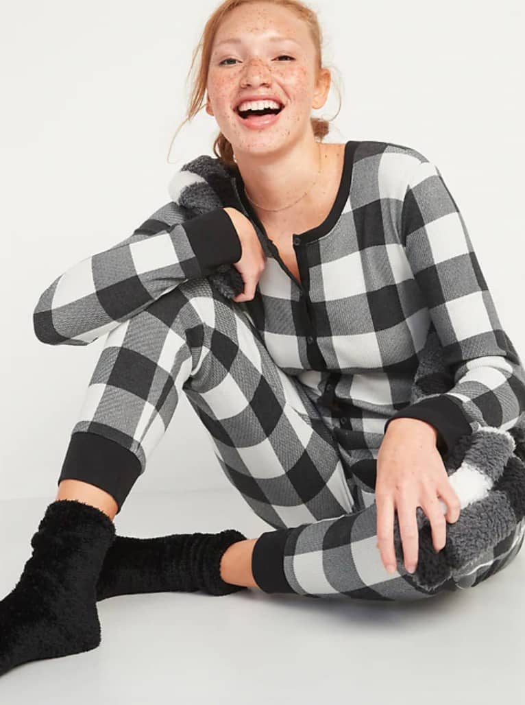 Pyjama une-pièce en tricot gaufré à motifs Old Navy