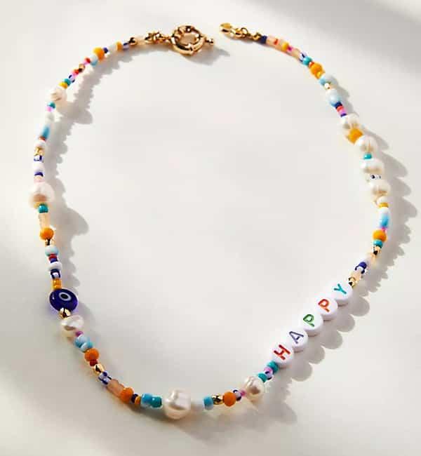 Collier de perles Happy