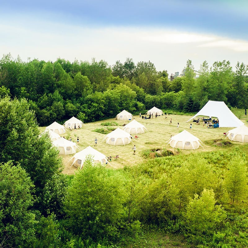 Les tentes nomades de l'hôtel UNIQ