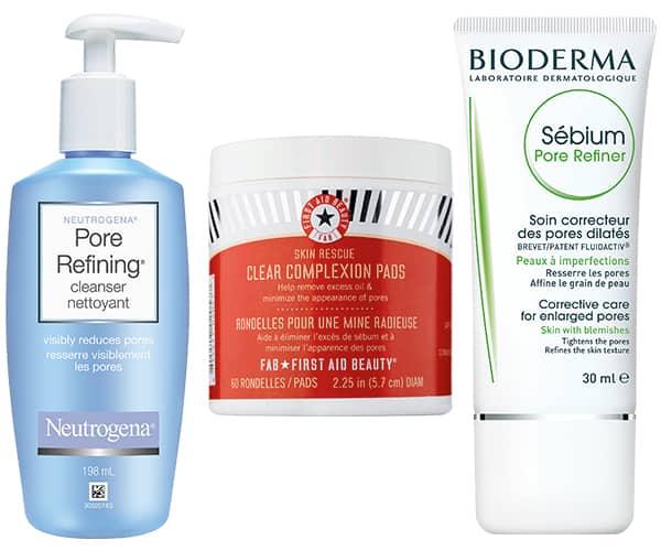 Les bons produits pores dilatés