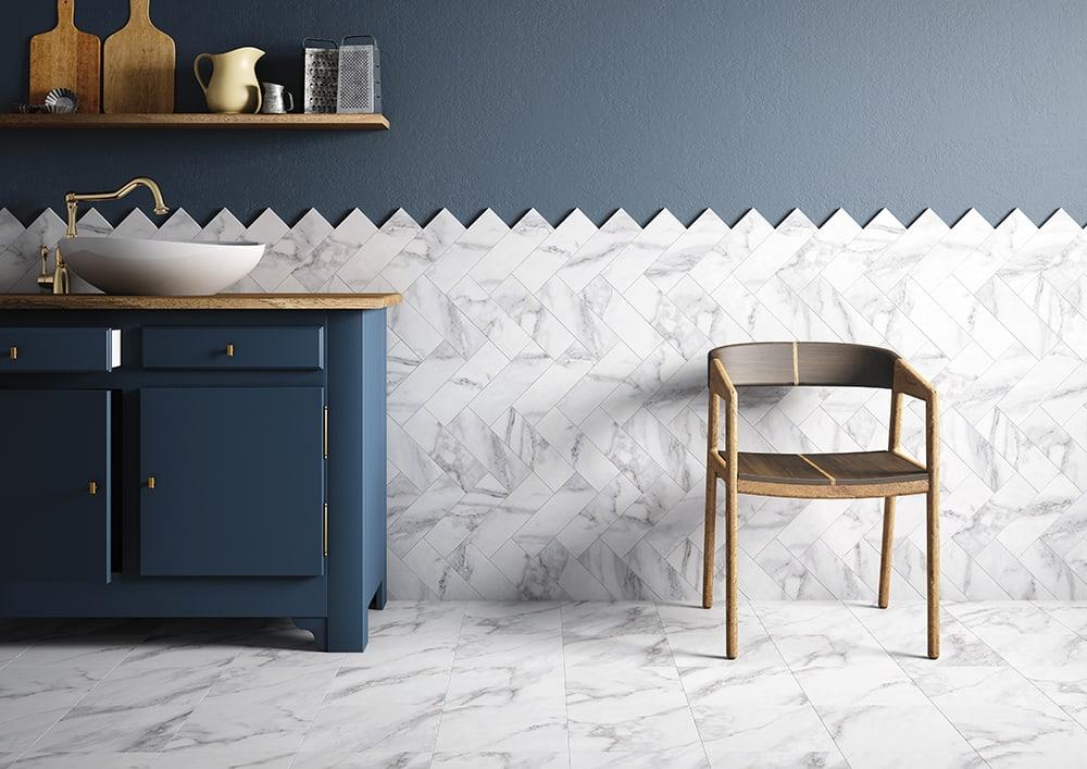 Tendance chevron marbre