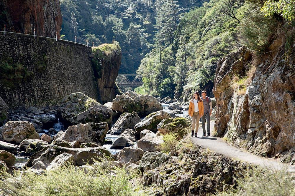 Randonnée à la Karangahake Gorge