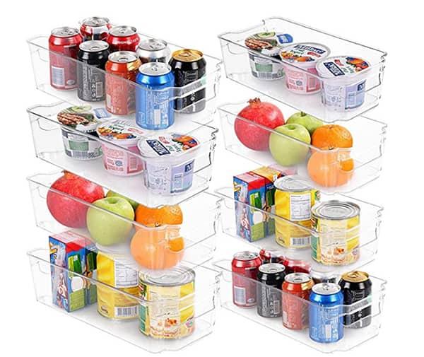 Ensemble de 8 boîtes pour le réfrigérateur ou le garde-manger