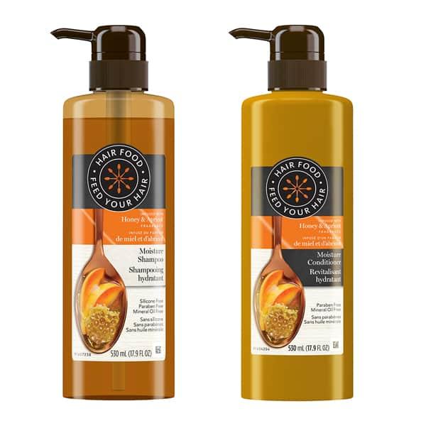 Shampooing et revitalisant hydratant, de Hair Food