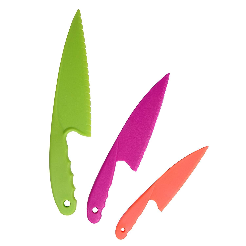 Ensemble 3 couteaux en plastique