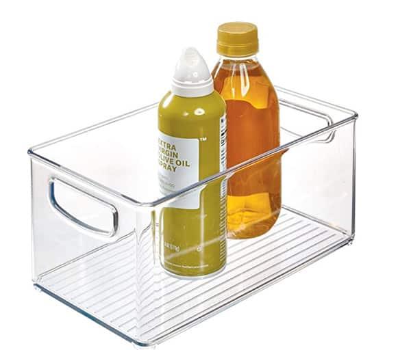 Bac avec poignées idéal pour le garde-manger ou le réfrigérateur