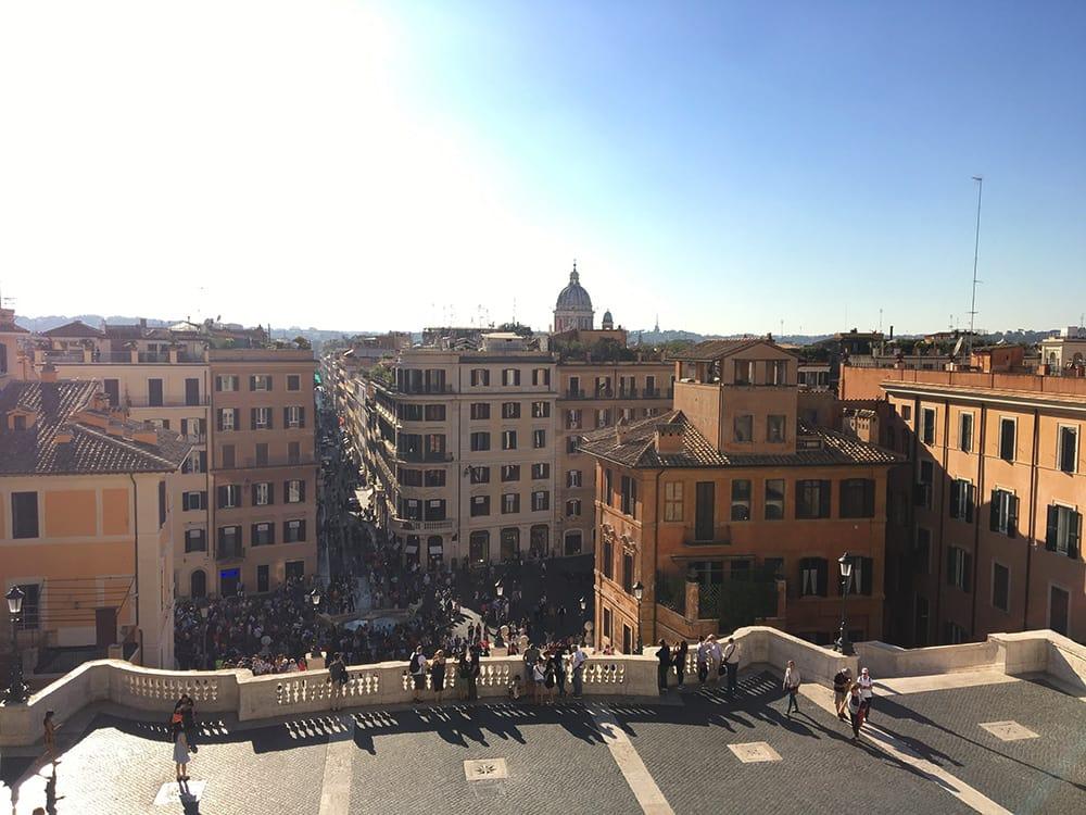 Échapper à la foule de la Piazza di Spagna