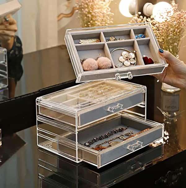 Boîte de rangement pour bijoux et accessoires