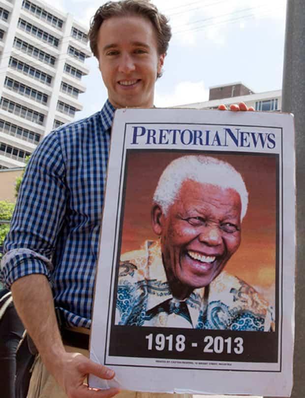 Craig Kielburger at Nelson Mandela's funeral
