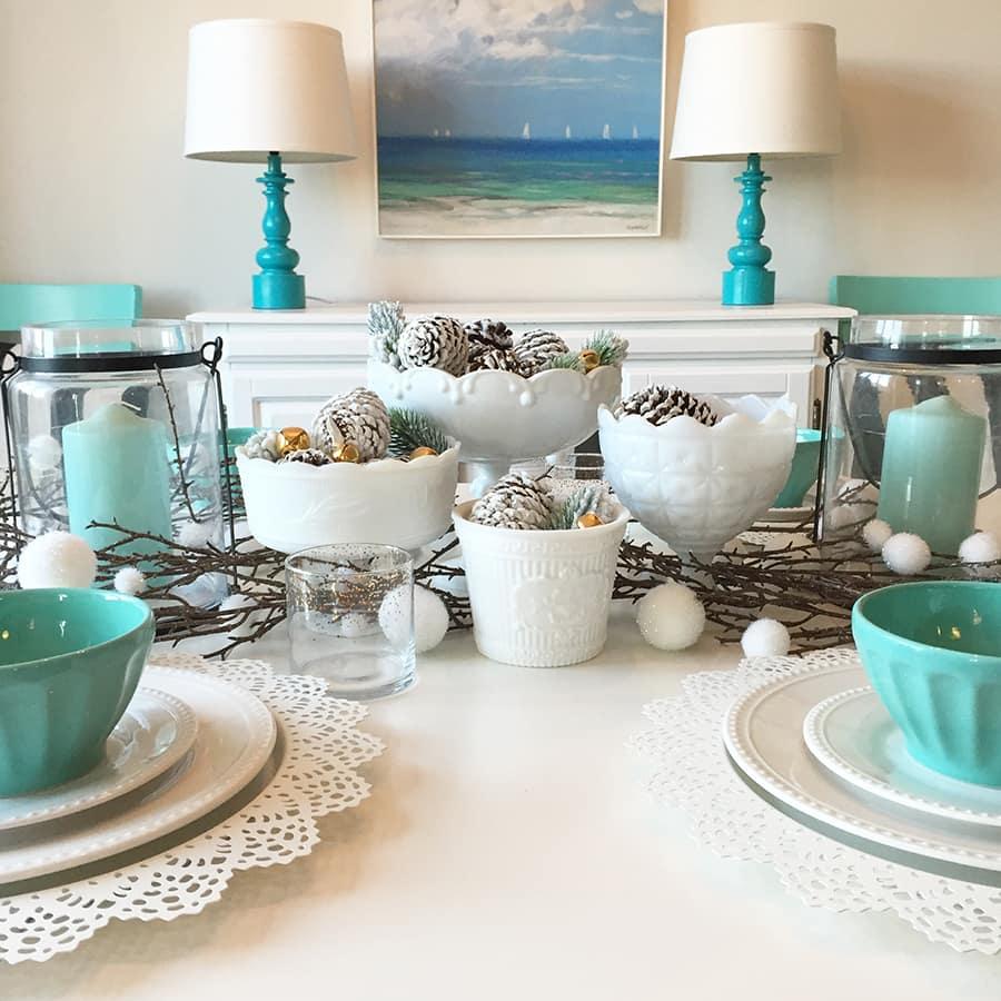 painted pinecones craft