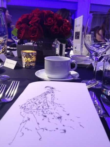 Erdem Fashion Show luncheon table