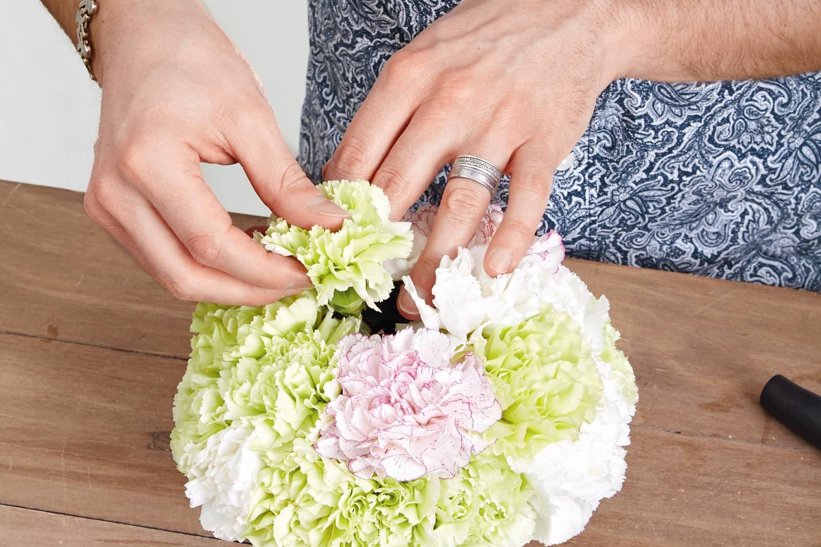 chic carnation arrangement