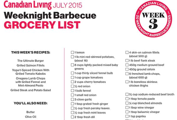 barbecue week 3 list