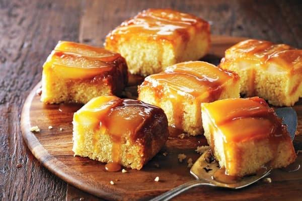 Upside-Down Buttermilk Pear Cake