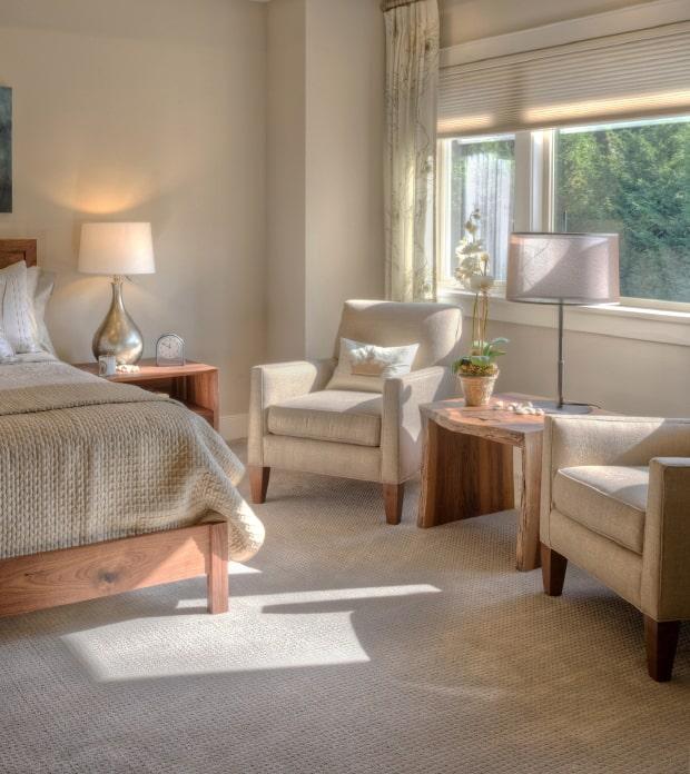White painted bedroom CIL Paints Antique White