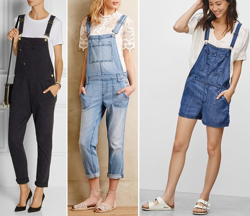 3 pairs of overalls