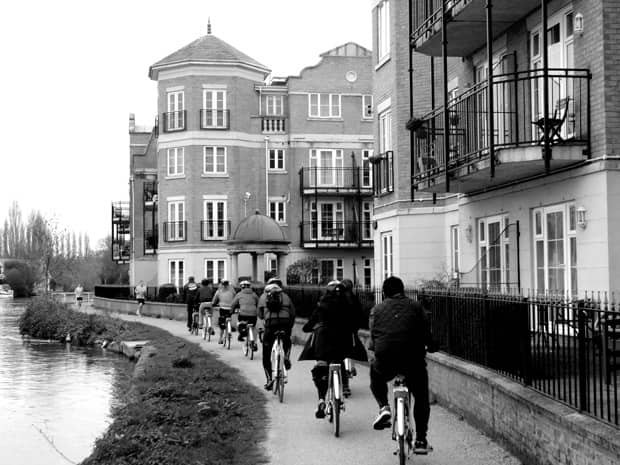 Cycling through Windsor, England