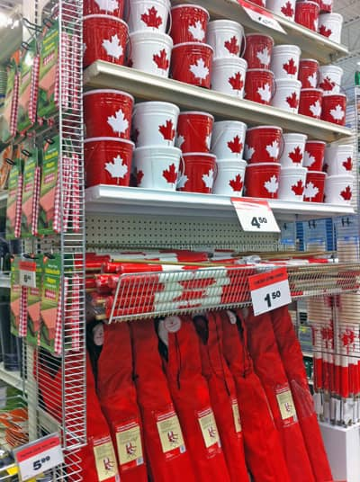 I snapped this today, March 5, at the Canadian Tire in Waterdown, ON.