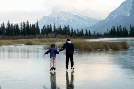 Take the Kids Ice-Skating on Vermillion Lake