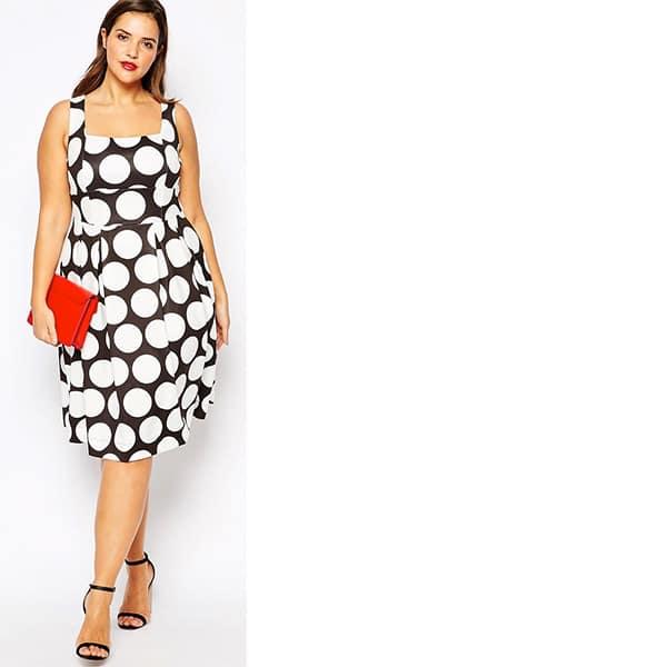 Plus-size dresses - polka dot Asos dress