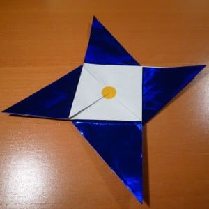 A simple 4-pointed star plus sticker