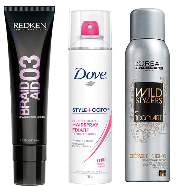 An image of the products used to create the look.