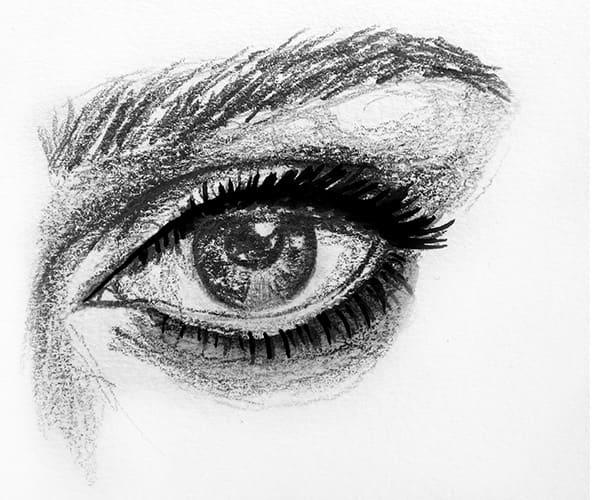How to apply eyeliner - round eye shape
