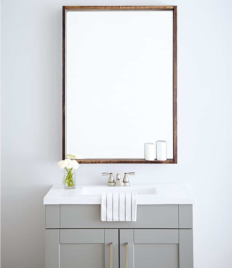 Diy Bathroom Mirror Frame Canadian Living