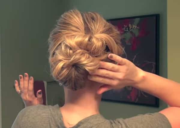 An image of a very easy updo.