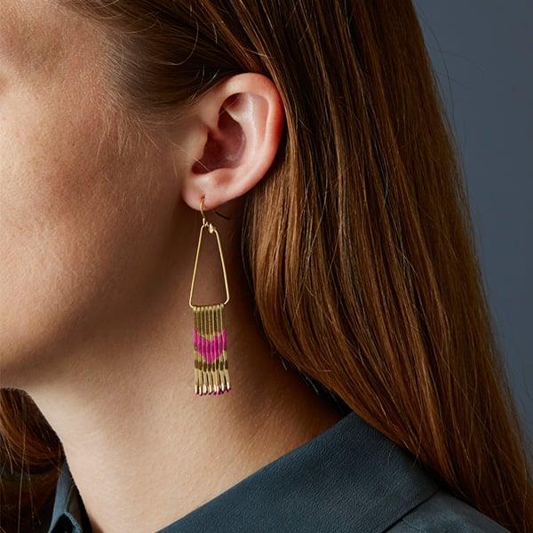 Final result - bobby pin earrings