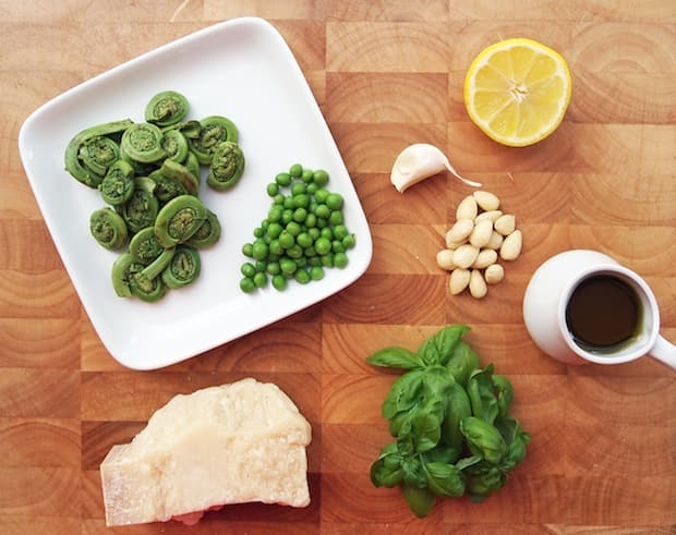 FIddlehead crostini recipe