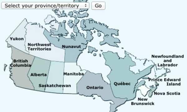 Yellow Vaccine Centres in Canada