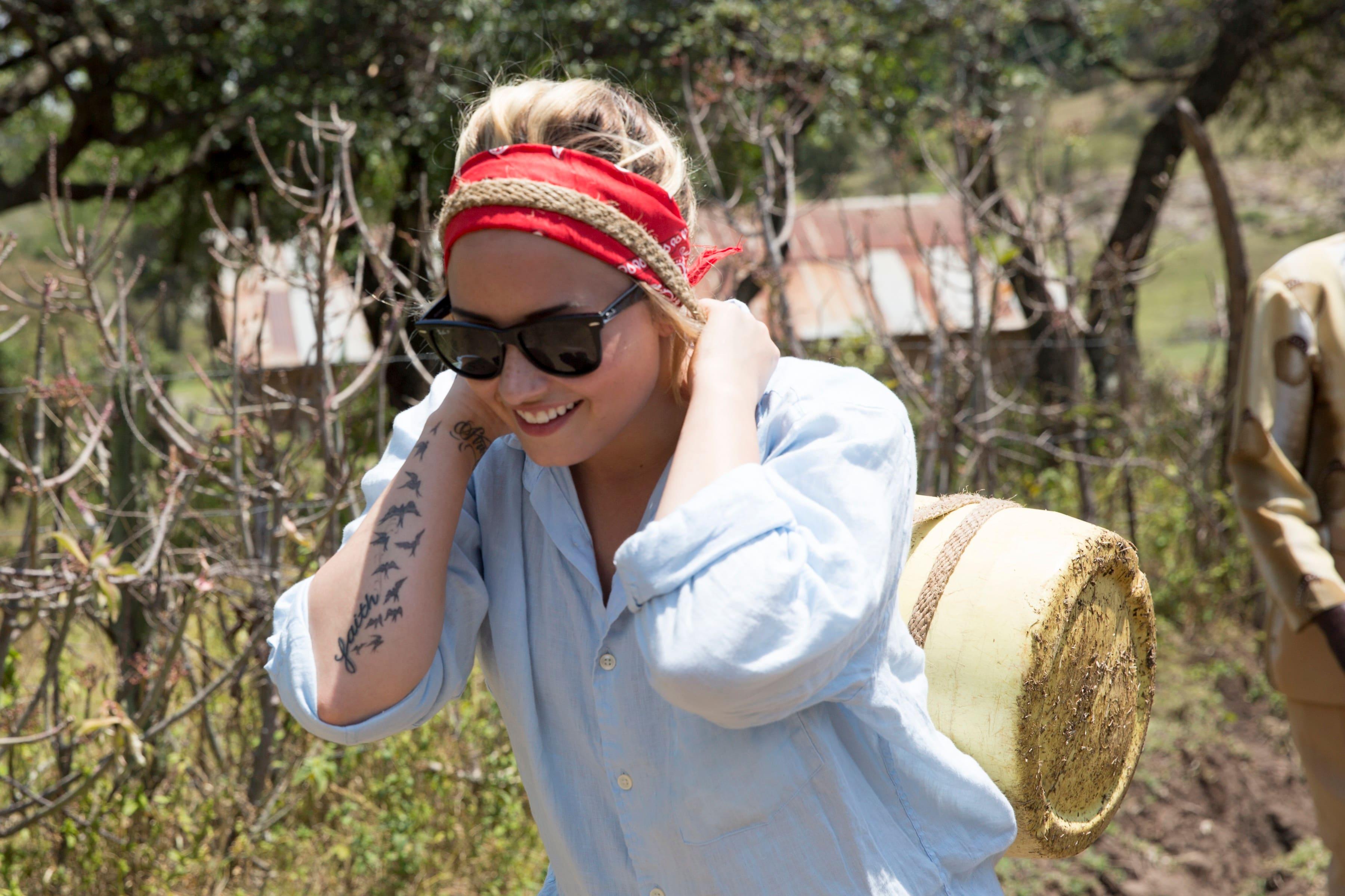 For her 21st birthday, Demi Lovato visited a Free The Children community in Kenya
