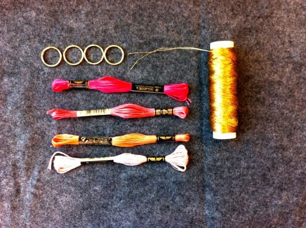 One skein of embroidery floss is enough for one tassel