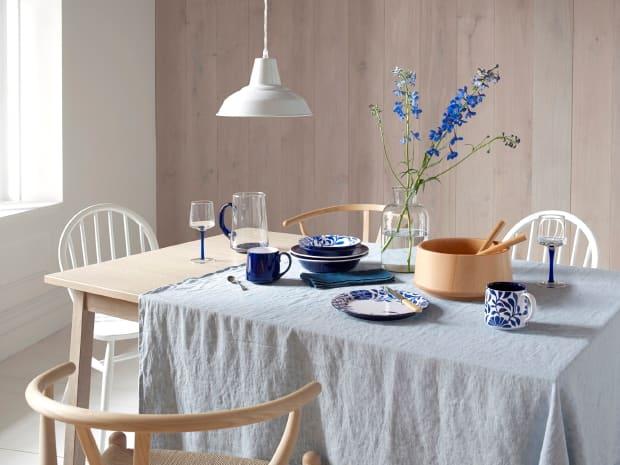 Denby Malmo Scandinavian style spring table settiing
