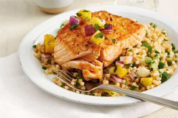 seared salmon couscous