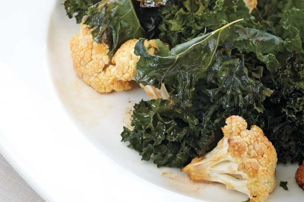 Cauliflower and Crispy Roasted Kale