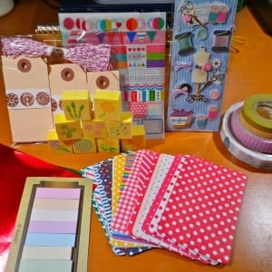 Washi tape, stickers and paper, oh my!