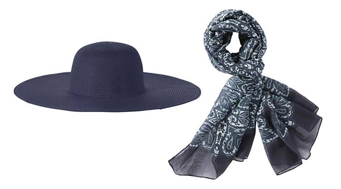 Joe Fresh Navy Hat and Scarf