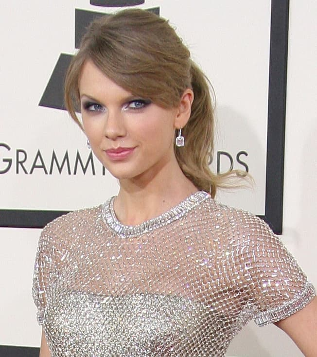 Taylor Swift at the Grammy Awards, Photo by Keystone Press