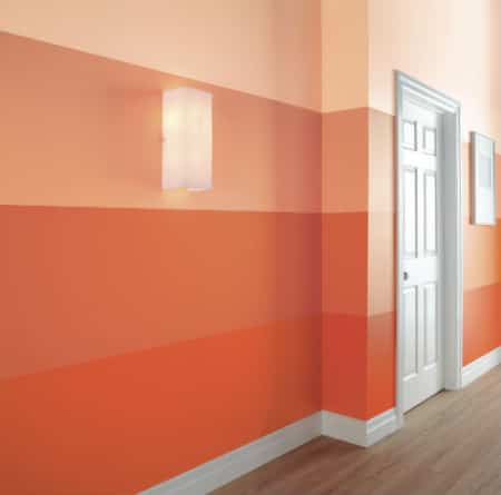 This hallway in The Home Depot's DreamBook has been treated to an ombré-inspired paint treatment.