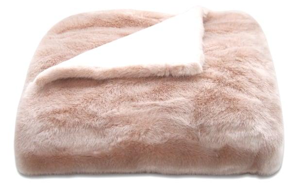 blush mink faux fur au lit fine linens